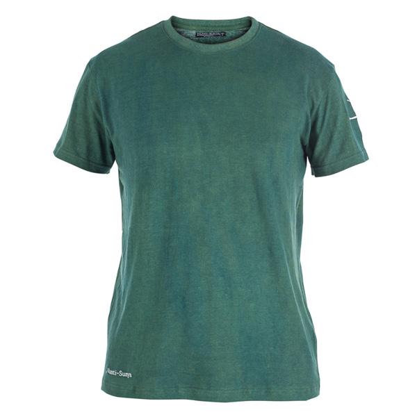 Men forest green hemp t shirt nunti sunya for Mens hemp t shirts